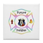 Future Firefighter Pastel Tile Coaster