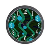 Sea Marble Dot Waves Wall Clock