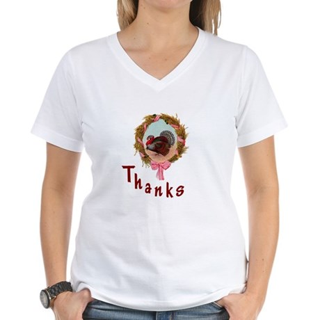 Thanks Turkey Women's V-Neck T-Shirt