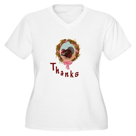 Thanks Turkey Women's Plus Size V-Neck T-Shirt