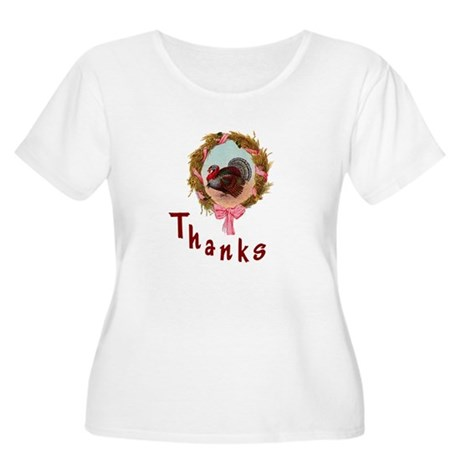 Thanks Turkey Women's Plus Size Scoop Neck T-Shirt