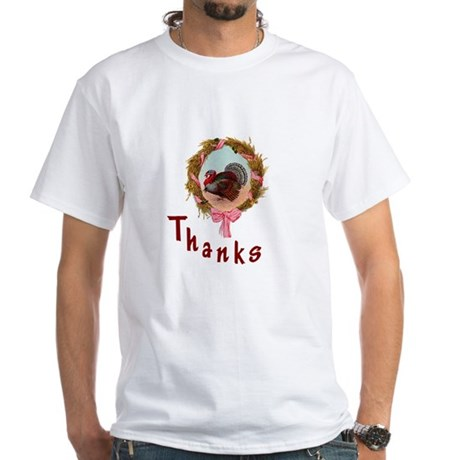 Thanks Turkey White T-Shirt