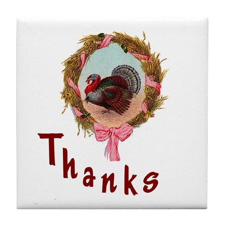 Thanks Turkey Tile Coaster