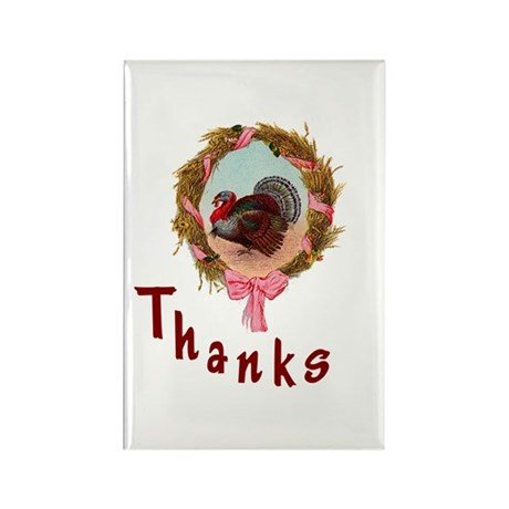 Thanks Turkey Rectangle Magnet (100 pack)