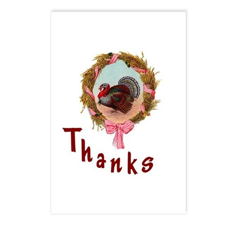 Thanks Turkey Postcards (Package of 8)