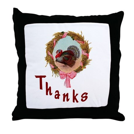 Thanks Turkey Throw Pillow