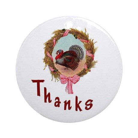 Thanks Turkey Ornament (Round)
