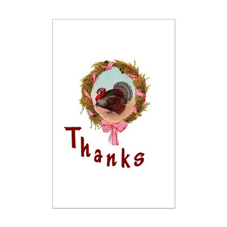 Thanks Turkey Mini Poster Print