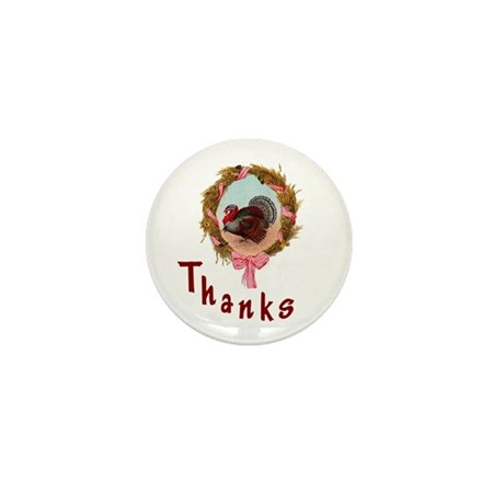 Thanks Turkey Mini Button (100 pack)