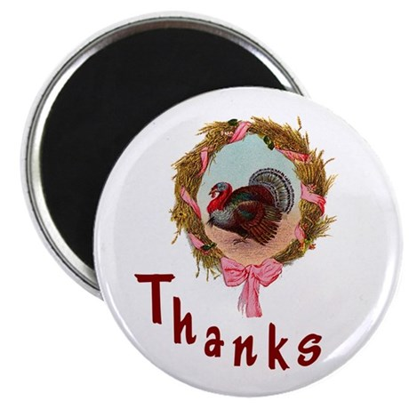 "Thanks Turkey 2.25"" Magnet (10 pack)"