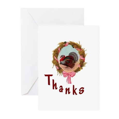 Thanks Turkey Greeting Cards (Pk of 20)