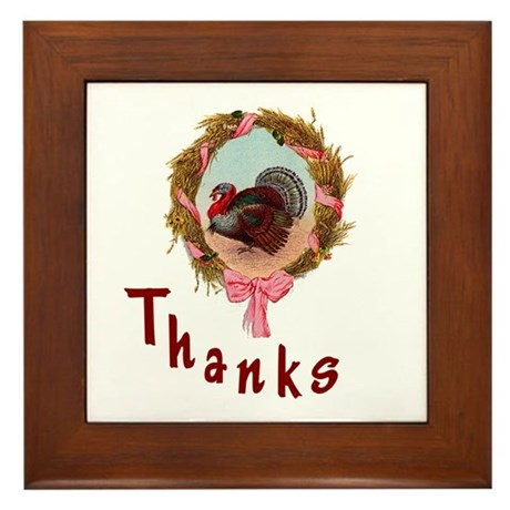 Thanks Turkey Framed Tile