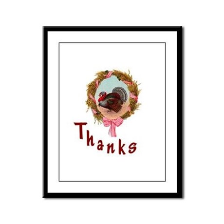 Thanks Turkey Framed Panel Print