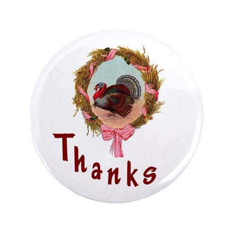 "Thanks Turkey 3.5"" Button (100 pack)"