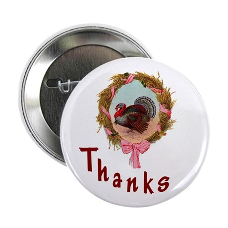 "Thanks Turkey 2.25"" Button (10 pack)"