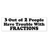 Math Bumper Bumper Stickers