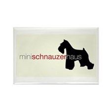 Mini Schnauzer Haus Rectangle Magnet