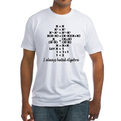 I Hate Algebra Fitted T-Shirt