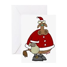 Santa Cow Christmas Greeting Card