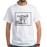 Two Servals in grass Shirt