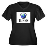 World's Greatest TUNER Women's Plus Size V-Neck Da