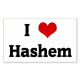 I Love Hashem Rectangle Decal