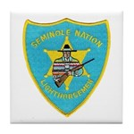 Seminole Nation Police Tile Coaster