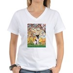 Spring / Fox T (1) Women's V-Neck T-Shirt