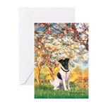 Spring / Fox T (1) Greeting Cards (Pk of 10)