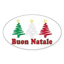 Buon natale Oval Decal