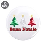 "Buon natale 3.5"" Button (10 pack)"