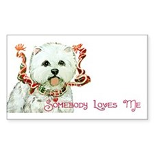Westhighland White Terrier Lo Sticker (Rectangular
