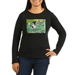 Irises / T (#1) Women's Long Sleeve Dark T-Shirt