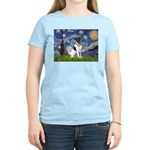 Starry / Fox Terrier (#1) Women's Light T-Shirt
