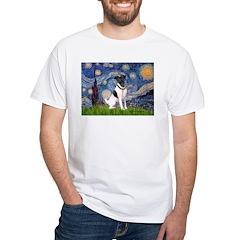 Starry / Fox Terrier (#1) White T-Shirt