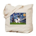 Starry / Fox Terrier (#1) Tote Bag