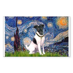 Starry / Fox Terrier (#1) Sticker (Rectangle)