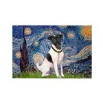 Starry / Fox Terrier (#1) Rectangle Magnet (10 pac