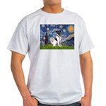 Starry / Fox Terrier (#1) Light T-Shirt