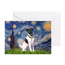 Starry / Fox Terrier (#1) Greeting Card