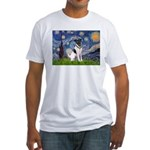 Starry / Fox Terrier (#1) Fitted T-Shirt