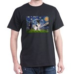 Starry / Fox Terrier (#1) Dark T-Shirt