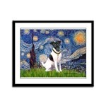 Starry / Fox Terrier (#1) Framed Panel Print