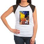 Cafe / Smooth T (#1) Women's Cap Sleeve T-Shirt