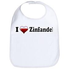I Love Zinfandel Bib