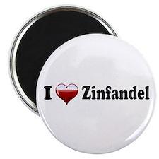 I Love Zinfandel Magnet