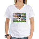 Lilies / Smooth T (#1) Women's V-Neck T-Shirt
