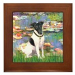 Lilies / Smooth T (#1) Framed Tile