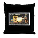 Pharmacist Stamp Collecting Throw Pillow