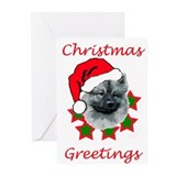 keeshond christmas Greeting Cards (Pk of 10)